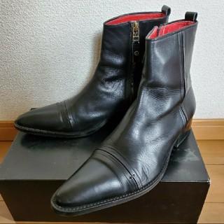 ジャンポールゴルチエ(Jean-Paul GAULTIER)のジャンポール ゴルチェ 本革 レザー ジップアップブーツ 26.5 41(ブーツ)
