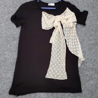 レッドヴァレンティノ(RED VALENTINO)のREDVALENTINO 半そで リボンTシャツ(Tシャツ(半袖/袖なし))