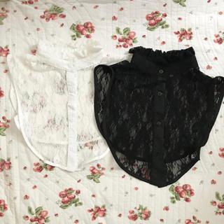 ウィゴー(WEGO)のWEGO レース つけ襟 白 黒 セット(つけ襟)