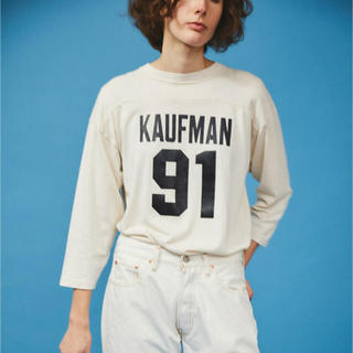 シンゾーン(Shinzone)のザ ・シンゾーン カウフマン ナンバーTシャツ ホワイト(Tシャツ(長袖/七分))