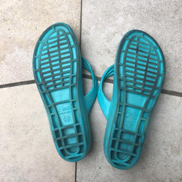 pearl(パール)の漁サン(漁師用サンダル) 水色 レディースの靴/シューズ(ビーチサンダル)の商品写真