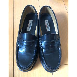 ハルタ(HARUTA)のハルタ 3E ローファー 黒 24.5(ローファー/革靴)