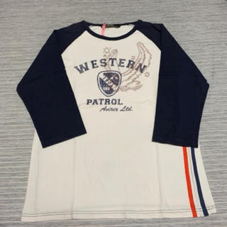 AVIREX - アヴィレックス AVIREX 五部袖 Tシャツ XLサイズ クリーニング済