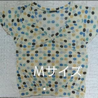 Mサイズ  ドット柄  カットソー(カットソー(半袖/袖なし))