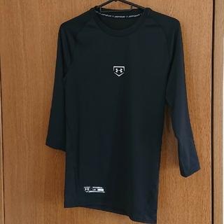 UNDER ARMOUR - アンダーマーマー  Tシャツ七分袖《LG》ブラック