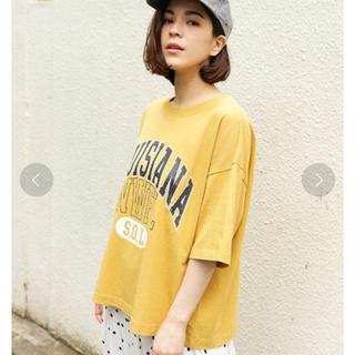 ニコアンド(niko and...)のniko and... コットンアソートカーブロゴTシャツ(Tシャツ(半袖/袖なし))