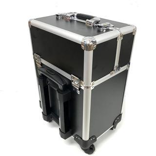 メイクボックス コスメボックス 鍵付キャリーケース 大容量 出張 旅行 プロ仕様(メイクボックス)
