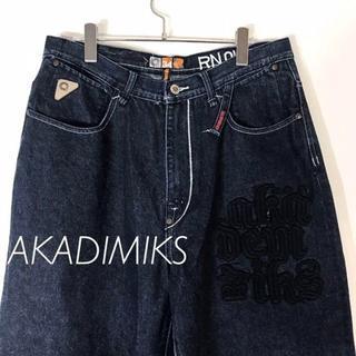 アカデミクス(AKADEMIKS)のアカデミクス AKADIMIKS デニムパン 濃紺 HIPHOP スケーター(デニム/ジーンズ)