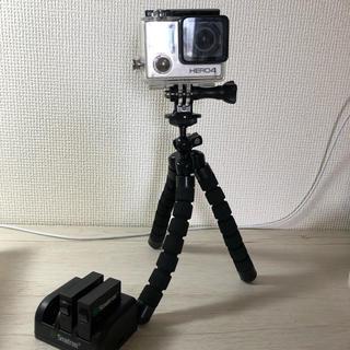 ゴープロ(GoPro)のGoPro HERO4 本体 予備バッテリー付 動作確認済(ビデオカメラ)