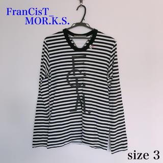 フランシストモークス(FranCisT_MOR.K.S.)の美品 フランシストモークス スカルストーンボーダーロンT 定番人気 メンズ(Tシャツ/カットソー(七分/長袖))
