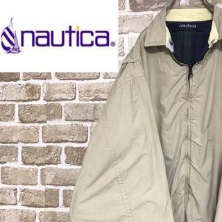 ノーティカ(NAUTICA)の【ノーティカ】リバーシブルブルゾンジャケット ビッグサイズ チェック 刺繍ロゴ(ブルゾン)