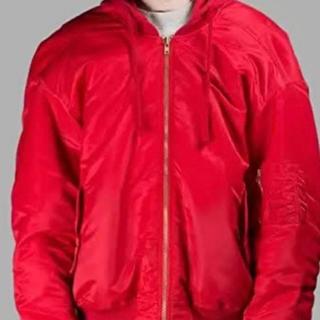 バレンシアガ(Balenciaga)のボンバージャケット 赤(ブルゾン)