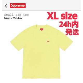 シュプリーム(Supreme)のSupreme Small Box Tee Light Yellow XLサイズ(Tシャツ/カットソー(半袖/袖なし))