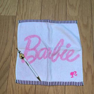 バービー(Barbie)のハンドタオル ボールペン(タオル/バス用品)