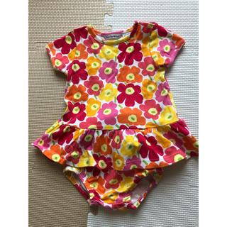 マリメッコ(marimekko)のmarimekko 花柄 Tシャツ&ブルマセット(Tシャツ/カットソー(半袖/袖なし))