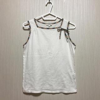 バーバリー(BURBERRY)の美品 BURBERRY LONDON    タンクトップ ホワイト 160(Tシャツ/カットソー)