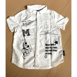 フタフタ(futafuta)の●フタフタ●美品!半袖シャツ 白シャツ 110センチ ミッキー(ブラウス)