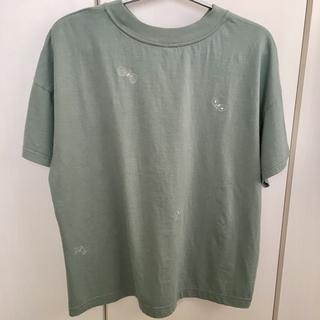 ミナペルホネン(mina perhonen)のミナペルホネン choucho Tシャツ 38 ライトグリーン(Tシャツ(半袖/袖なし))
