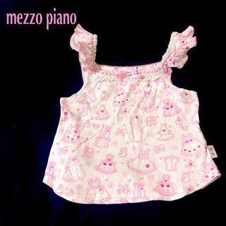 メゾピアノ(mezzo piano)のメゾピアノ キャミソール 120  タンクトップ  ラメ入りドレス柄(Tシャツ/カットソー)