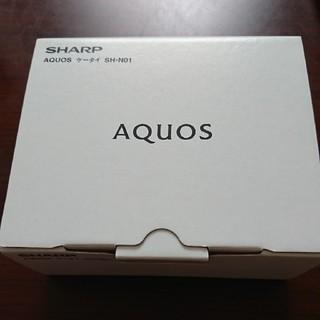 アクオス(AQUOS)の新品未使用 AQUOS SH-N01 SIMフリー レッド(携帯電話本体)