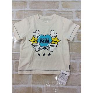 エックスガールステージス(X-girl Stages)の【新品】X-GIRL 男女兼用 半袖 Tシャツ 90cm 02YE0614035(Tシャツ/カットソー)