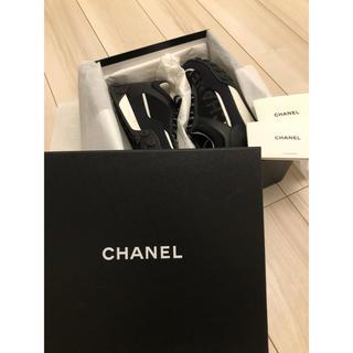 シャネル(CHANEL)のCHANEL シャネル スニーカー 40 ブラック(スニーカー)