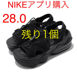 ナイキ(NIKE)のナイキ ウィメンズ エアマックス ココ サンダル ブラック 28.0cm(サンダル)