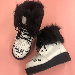 バナナチップス(BANANA CHIPS)の2wayショートブーツ ホワイト(ブーツ)