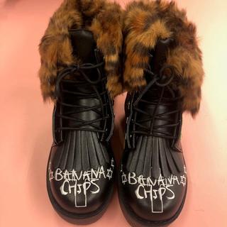 バナナチップス(BANANA CHIPS)の2wayショートブーツ ブラック(ブーツ)