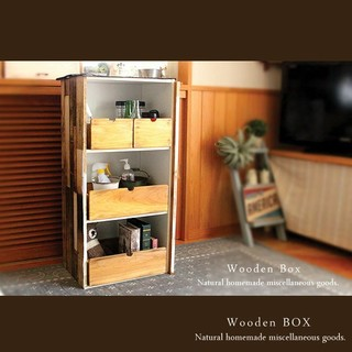 ☆大2点セット☆ハンドメイド  アンティーク加工  収納ボックス  木製箱(家具)