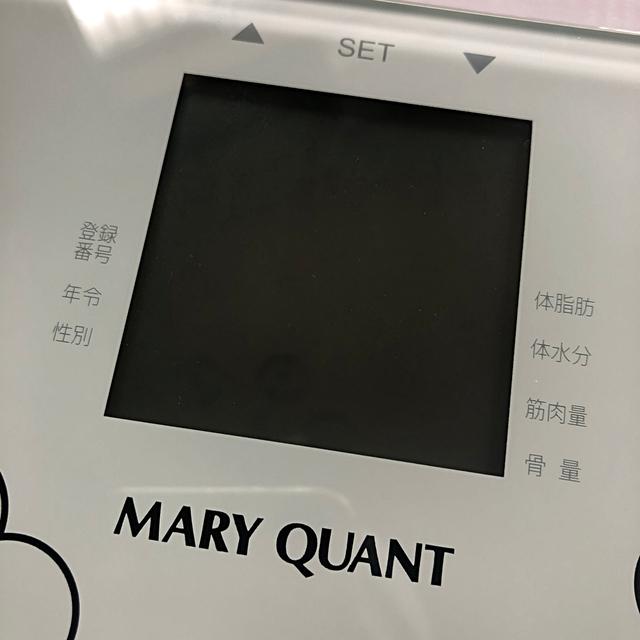 MARY QUANT(マリークワント)の新品 MARY QUANT☆MQスケール 体重計 マリークワント スマホ/家電/カメラの生活家電(体重計)の商品写真