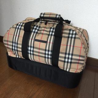 バーバリー(BURBERRY)のバーバリーゴルフ☆ノバチェック柄シューズケース付きボストンバッグ(バッグ)
