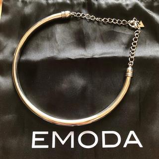 エモダ(EMODA)のEMODA エモダ ラウンド メタルチョーカー シルバー(ネックレス)