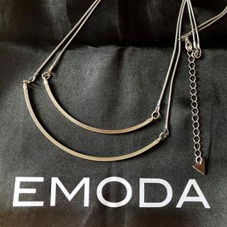 エモダ(EMODA)のEMODA エモダ FLATダブルプレートネックレス シルバー(ネックレス)