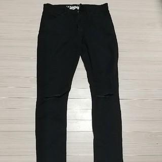 エイチアンドエム(H&M)のH&M 女児140cm ダメージジーンズ 黒(パンツ/スパッツ)
