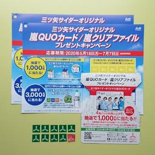 アサヒ(アサヒ)の三ツ矢サイダー 嵐 キャンペーン 応募券(その他)