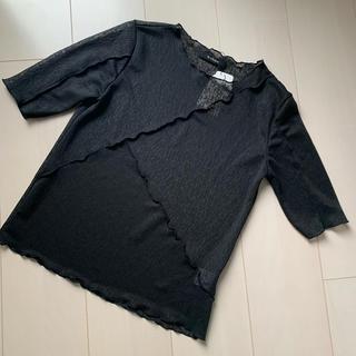 ダブルクローゼット(w closet)の再値下げです🤲透けトップス(カットソー(半袖/袖なし))