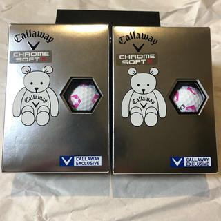 キャロウェイ(Callaway)の新品キャロウェイ クロムソフト X トゥルービス 1ダース キャロワン 白ピンク(その他)
