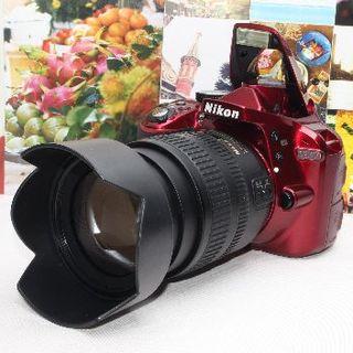 ニコン(Nikon)の❤️予備バッテリー付き❤️ニコン D3300❤️✨超希少なレッド✨(デジタル一眼)