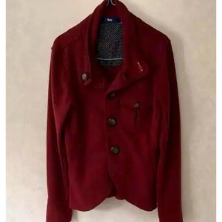 スピンズ(SPINNS)の秋用 SPINS コート メンズ Mサイズ カラー:ワインレッド(ピーコート)