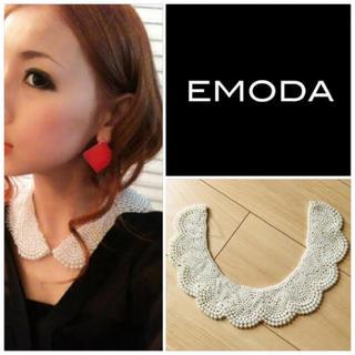エモダ(EMODA)の美品 EMODA エモダ デコルテパールネックレス パールつけ襟(ネックレス)