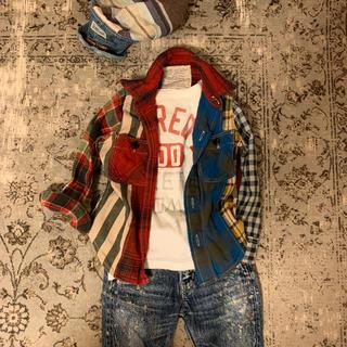 ゴートゥーハリウッド(GO TO HOLLYWOOD)のゴートゥーハリウッド チェックシャツ 100  美品(ブラウス)