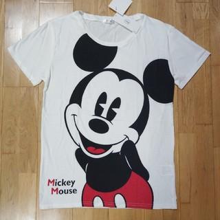 ミッキーマウス(ミッキーマウス)のミッキー Tシャツ ディズニー ミッキーマウス 半袖 白 新品タグ付き(Tシャツ(半袖/袖なし))