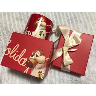 チップアンドデール(チップ&デール)のディズニー チップとデール オルゴール マグカップ付き クリスマスボックス(その他)