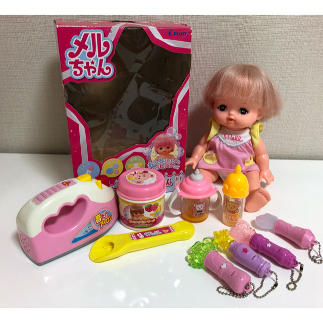 PILOT(パイロット)のメルちゃん&離乳食セット&アイロン キッズ/ベビー/マタニティのおもちゃ(ぬいぐるみ/人形)の商品写真