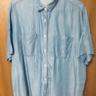 ジーユー(GU)のジーユー GU デニム半袖シャツ レディース デニムシャツ ビッグシャツ(シャツ/ブラウス(半袖/袖なし))