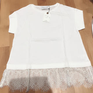 チャオパニックティピー(CIAOPANIC TYPY)のCIAOPANIC TYPY 白 Tシャツ レース(Tシャツ(半袖/袖なし))
