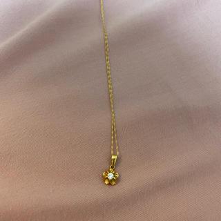 K18 菊爪ダイヤのネックレス(ネックレス)