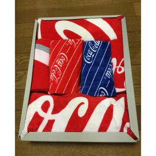 コカコーラ(コカ・コーラ)のコカコーラのタオルセット(タオル/バス用品)