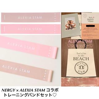 アリシアスタン(ALEXIA STAM)のNERGY × ALEXIA STAM コラボ トレーニングバンド 2本セット(トレーニング用品)